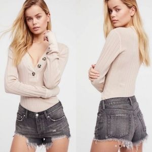 NWT Free People Loving Good Vibrations Cutoffs